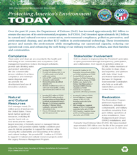 Protecting America's Environment Fact Sheet