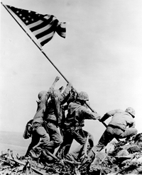 Raising of flag at Iwo Jima